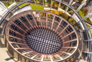 Aerial view of EU Headquarters in Strasbourg
